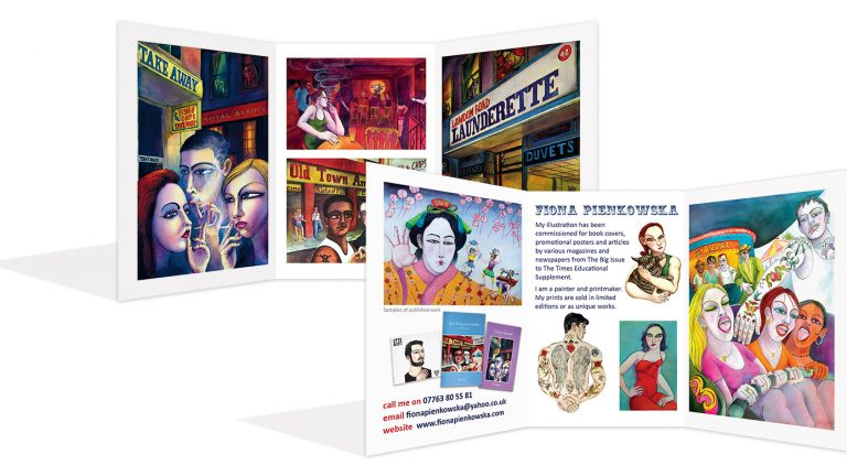 3 fold card flyer